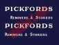 "Preview: ""PICKFORDS REMOVERS & STORERS"" ( two lines ) Decals für GUY Removal Van No. 47B"