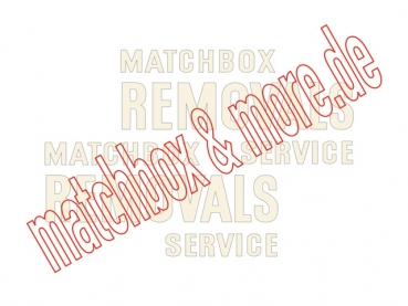 """MATCHBOX REMOVALS SERVICE"" Decals für Bedford Van No. 17A / B"