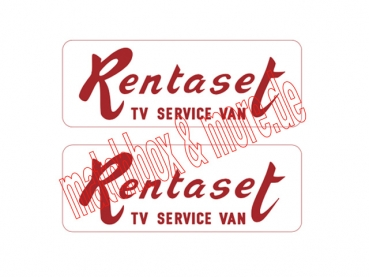 """Rentaset"" Decals für T.V. VAN No. 62B"