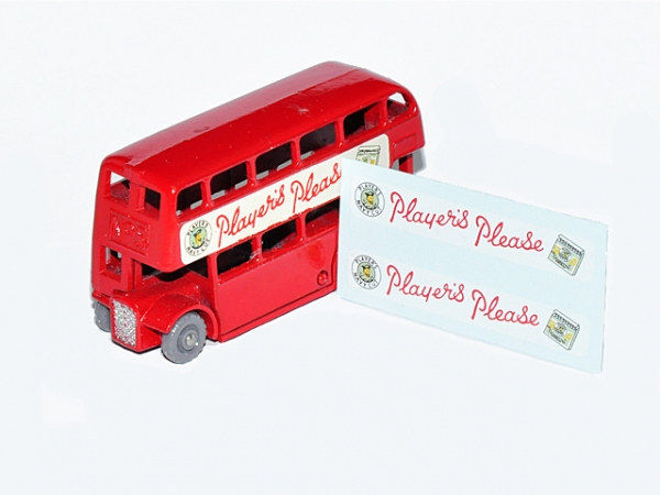 """Player´s Please"" Decals für DOUBLE DECKER BUS No. 5C"
