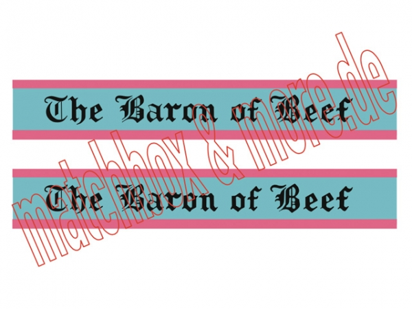 """The Baron of Beef / Mecca Ltd"" Decals für ROUTEMASTER BUS No. 5D"